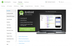 Download Android Studio and SDK